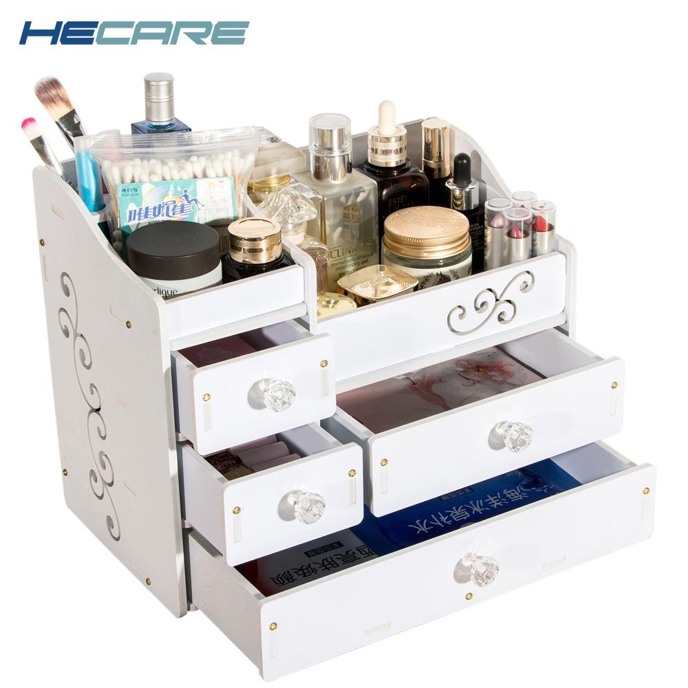 HECARE műanyag sminkelő ékszer konténer DIY vízálló tároló doboz kozmetikai konténer ékszer tok tároló szervező