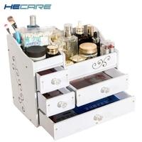 HECARE Plastic Make Up Organizer Jewelry Container DIY Waterproof Storage Box Cosmetic Container Jewelry Case Storage Organizer
