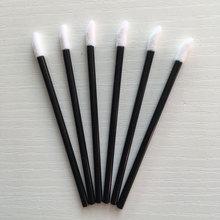 цена на 200pcs Flocked Sponge Disposable Lip Brushes Soft makeup Brush for Lipstick Lip Gloss Wands Applicator Lip Balm make up brush