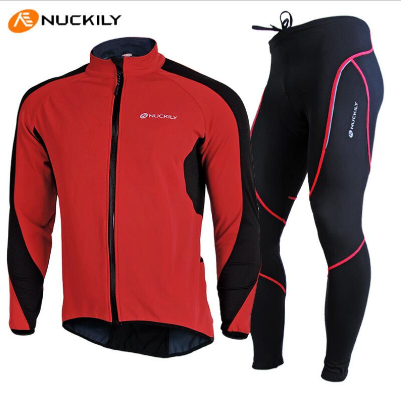 NUCKILY Design Bicycle Jacket Set Winter Fleece Sports Jersey Pants  Windproof Cycling Bike Bicycle Clothing Sets Ropa Ciclismo-in Cycling Sets  from Sports ... c8ae57bc6