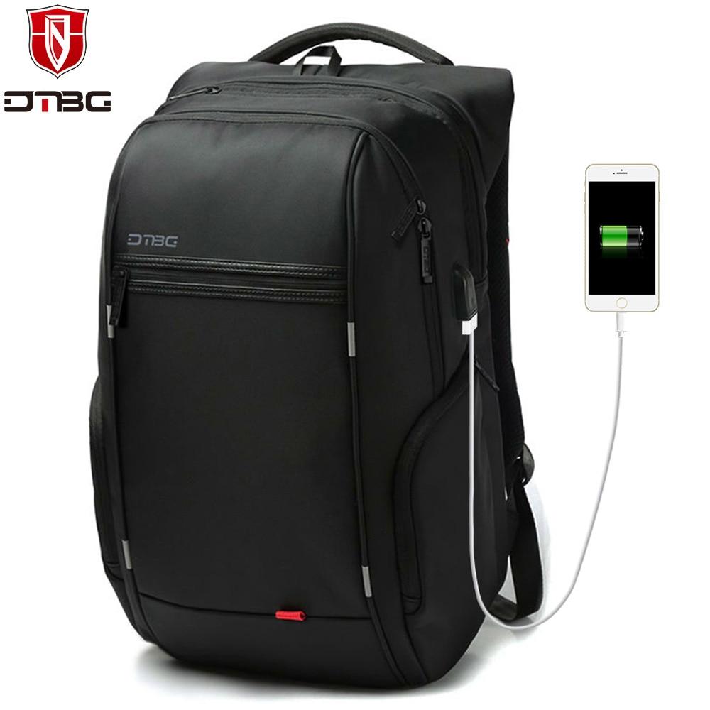DTBG Backpack Men Women 15.6 17.3 School Backpacks with USB Charge Port Waterproof Travel Bags Anti-theft Laptop Bag for Macbook