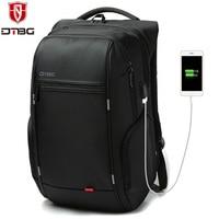 DTBG Business Men Women 15 6 Inch 17 Inch Laptop Backpacks Water Resistant Anti Theft Laptop