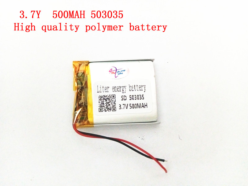 1PCS Supply polymer lithium battery 3.7V 503035 500MAH lithium polymer battery plus board bud smith e creating web pages for dummies