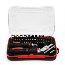 61pcs Precision Repair Kit Ratchet Socket Chrome-plated Household Removable Socket Adapter Screwdriver Set High Quality