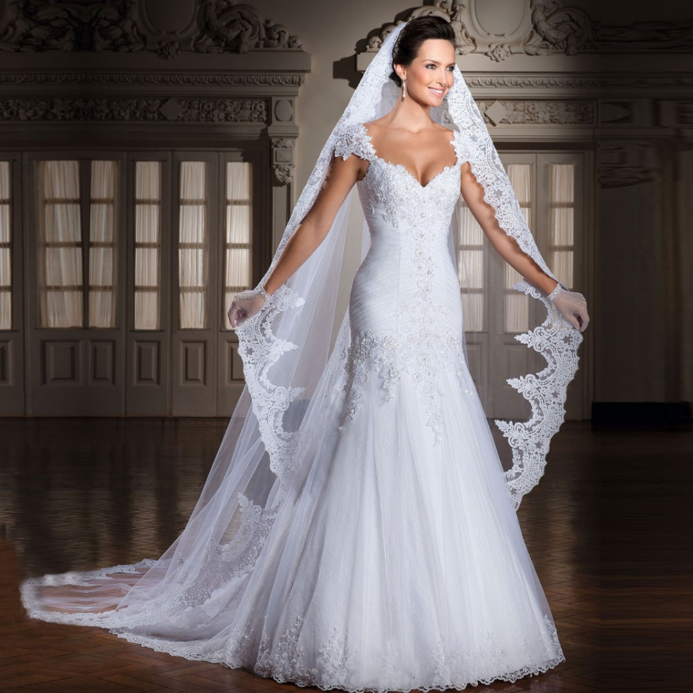 Lace wedding dresses mermaid picture more detailed picture about zgs134 vestido de noiva 2017 low price high quality brazil style mermaid wedding gowns cap sleeve ombrellifo Images