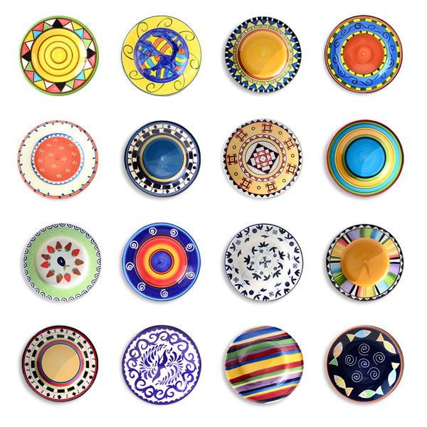 16 pcs decorative plate decoration background wall hanging plate western dish ceramic plates porcelain christmas plate - Decorative Christmas Plates