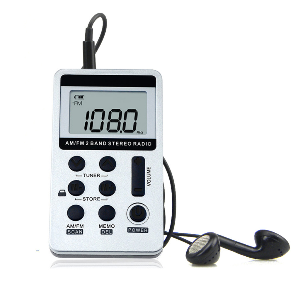 Radio Digital Mini  Portátil FM//AM Receptor Portátil Con Batería Digital Radio