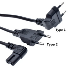 Euro right angled 90 degree power lead cable for samsung philips sony LED
