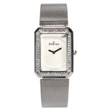 Luxury Sports Men Watch Alloy Mesh Band Quartz Lady Dress Waterproof Square Wristwatch Dial Diamond Women Clock Female watch New цена