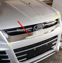 1 Pcs ABS Chrome Front grille Decoration Trim Fit For 2013 2014 Kuga Escape Fast free air ship