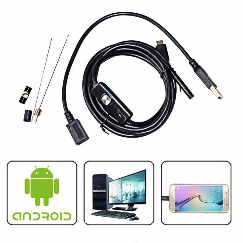 2018 5.5/7/8mm Lente Mini Macchina Fotografica 1 M/1.5 M/2 M/3.5 M/5 M/10 M Endoscopio IP67 Periscopio Della Macchina Fotografica LED Video Camcorder per Android IPhone