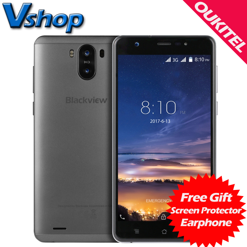 Original Blackview R6 Lite 3G Mobile Phones Android 7.0 1GB + 16GB Quad Core Smartphone Dual Back Cameras 5.5 inch Cell Phone