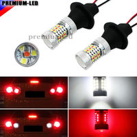 2pcs 31 SMD White Red Dual Color 1156 S25 7506 LED Replacement Bulbs For Car Backup