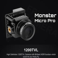 Foxeer Mostro Micro Pro 1.8 millimetri 16:9 1200TVL PAL/NTSC Commutabile WDR Bassa Latenza FPV Camera Built-In OSD DC 5-40V Staffa Della Macchina Fotografica
