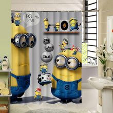 Cute Carton With Minions Design Water Resistance Bathing Shower Curtain Fabric Polyester Waterproof Bathroom Product SL