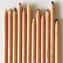 12pcs/Lot Professional Pastel Pencils Skin Thicker Lead Wood Color Pencil Portrait Chalk Student Lapis De Cor School Stationery