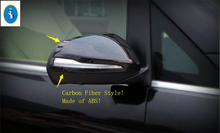 Yimaautotrims For Mercedes-Benz V Class V260 W447 2014 2015 2016 2017 ABS New Style Side Door Rearview Mirror Cover Trim 2 Piece abs chrome side wing fender rearview door mirror trim cover for mercedes benz v class v250 v260 v220 2014 2015 2016 2017