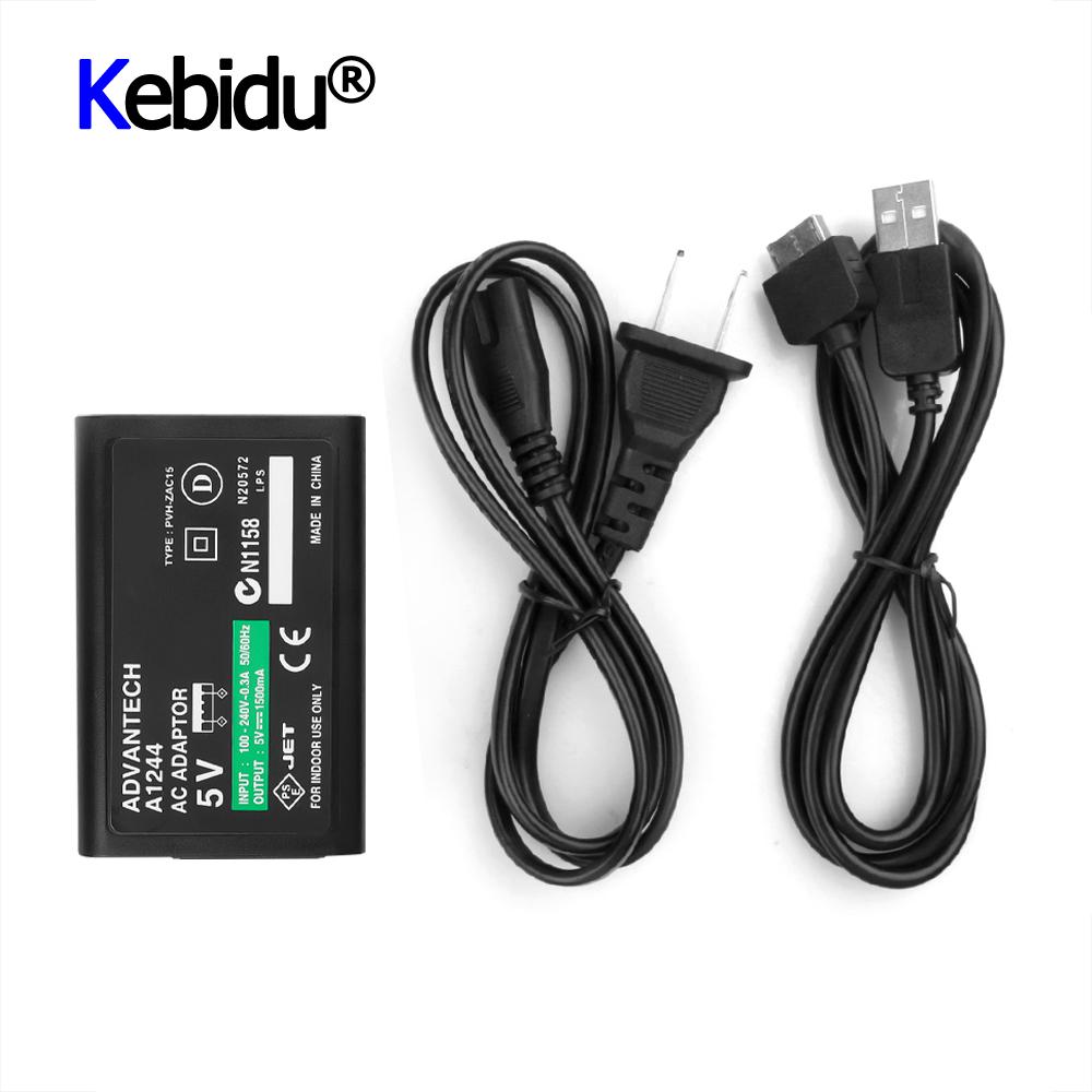 Настенное зарядное устройство для дома, внешний источник питания, кабель для зарядки и передачи данных для Sony PlayStation For Psv ita PS Vita PSV, вилка для ЕС и США
