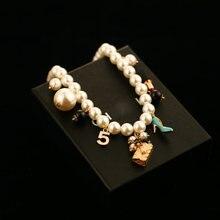 Женское Ожерелье искусственного жемчуга с цветами роскошная