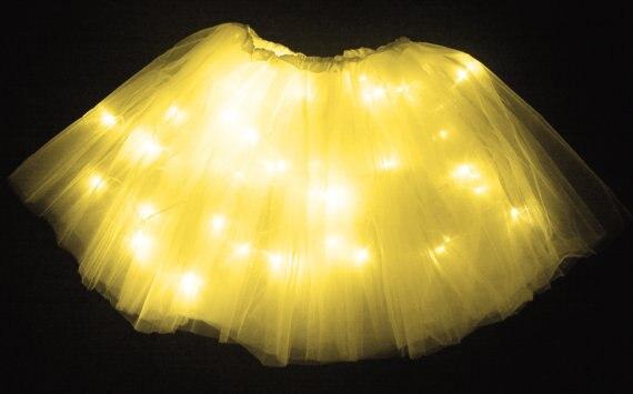 Новое поступление, рейв-клуб, со светодиодной подсветкой, юбка-пачка для девочек