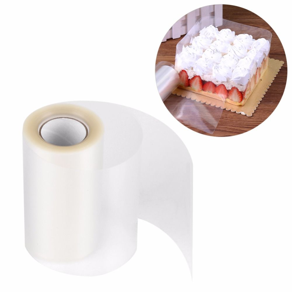 Hot Clear Surrounding Edge Wrapping Tape Cake Collar Roll Packaging Tools 10m
