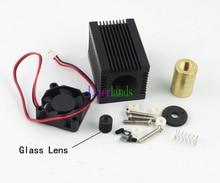 Housing/Case/Heatsink 5.6mm TO18 Laser Diode LD 405nm 450nm Blue Glass Lens Fan
