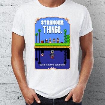 T-shirt Stranger Things Super Mario Bros Pixel Art