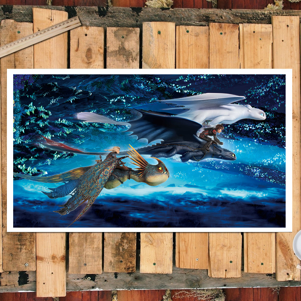 1 Piece Toothless Dragon Picture Cartoon Wall Sticker How To Train Your Dragon Poster Canvas Painting For Home Decor Wall Art