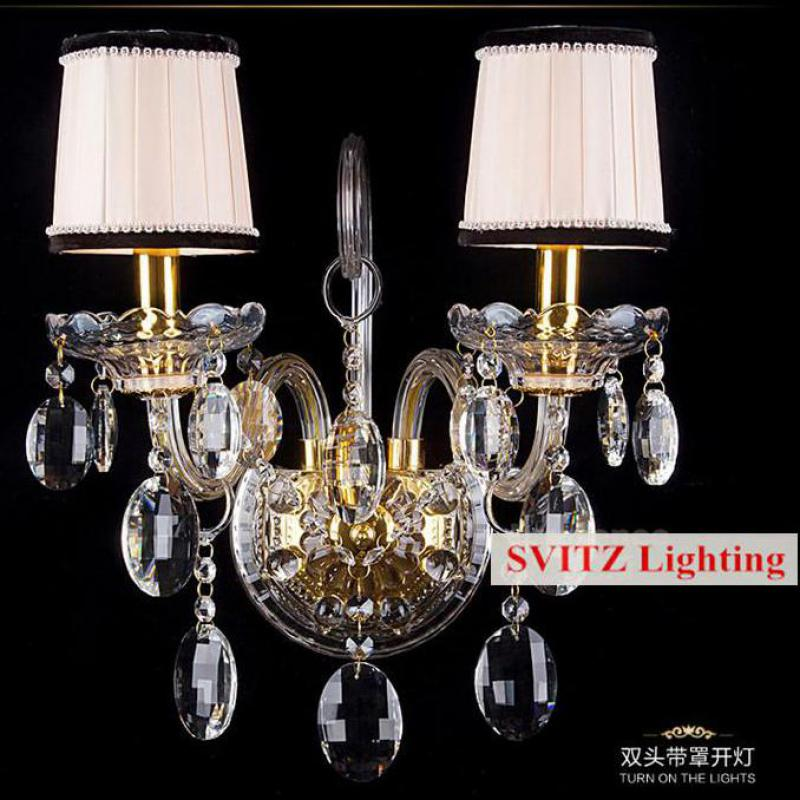 modern clear K9 crystal wall lights for bedroom bedside light gold crystal wall lamp luminaria led wall sconce aisle hotel room
