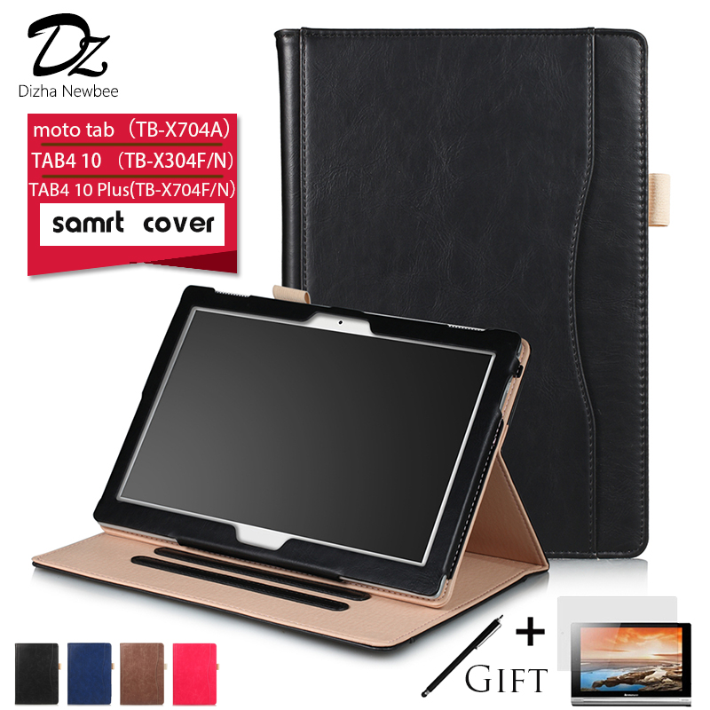Dizha case for Lenovo TAB4 10 (TB-X304F/N) TAB4 10 Plus (TB-X704F/N) Leather Tablet case for Lenovo moto tab (TB-X704A) TB-X804F