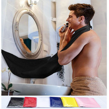 120x80cm Man Bathroom Apron Black Beard Apron Hair Shave Apron for Man Waterproof Floral Cloth Household Cleaning Protector