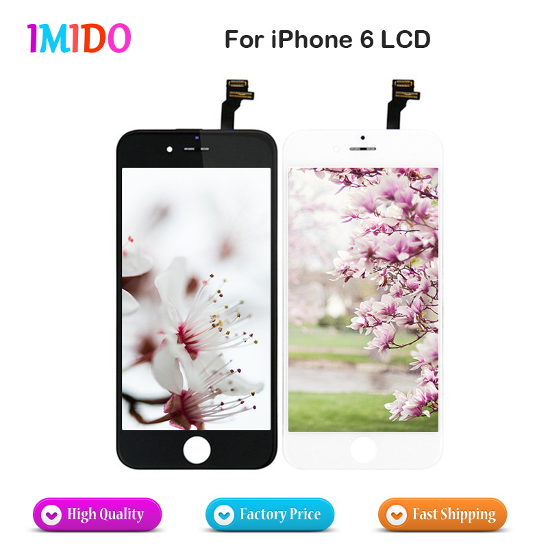 50Pcs Lot Black and White None Spot AAA for Apple iPhone 6 LCD Digitizer Assembly 4