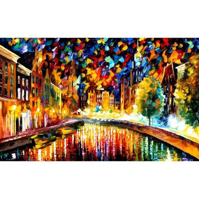 Bellissimo paesaggio dipinti a tornare amsterdam spatola arte su ...