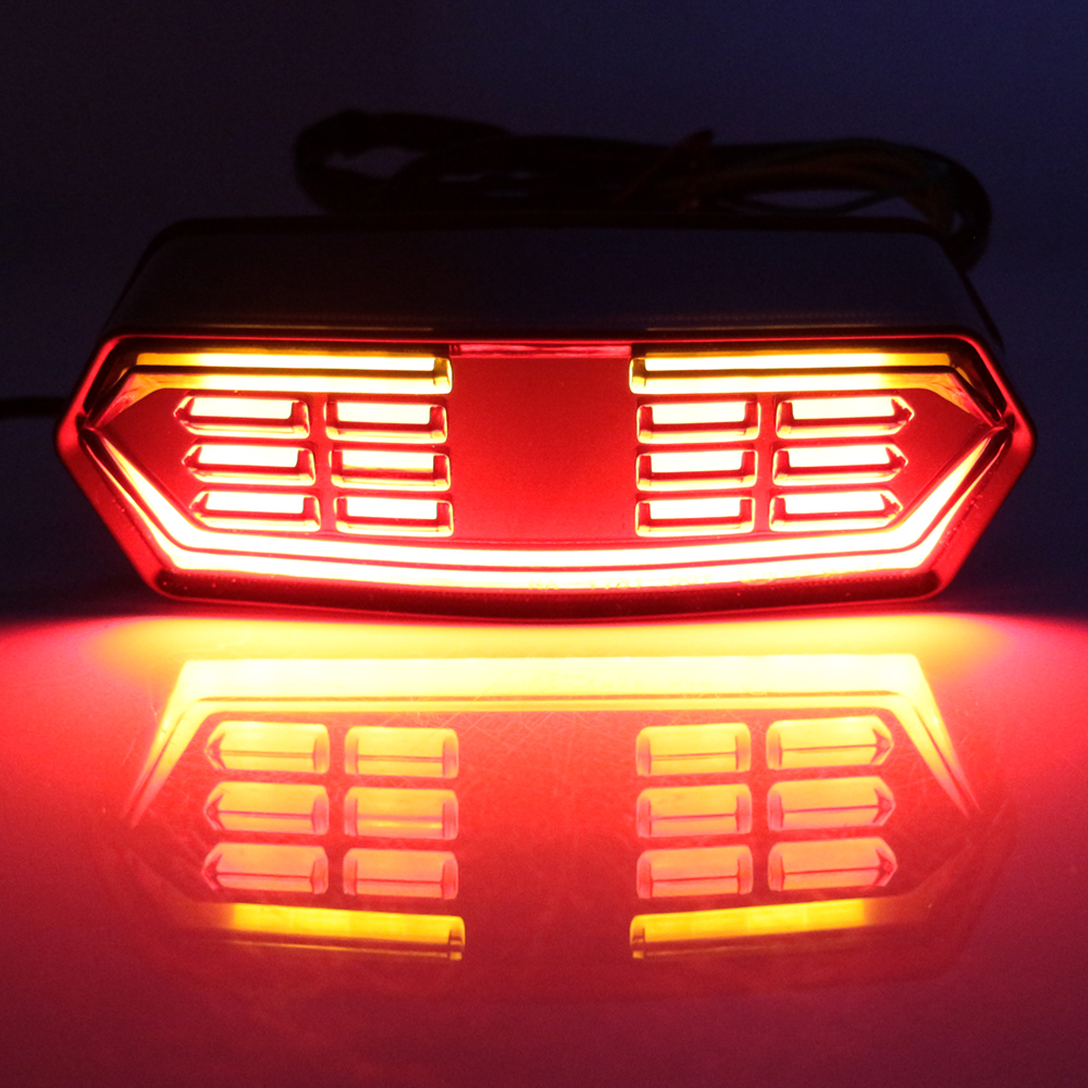 For Honda Grom MSX125 CTX700N CTX700 CBR650F Motorcycle Brake Stop Running Light Scooter Rear Tail Lamp LED Turn Signal Flashers