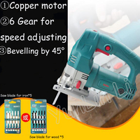 500W 220V Woodworking Jig Saw Hand held Cutting Tool Multi function Small Electric Household Pull Flower Saw J1 60