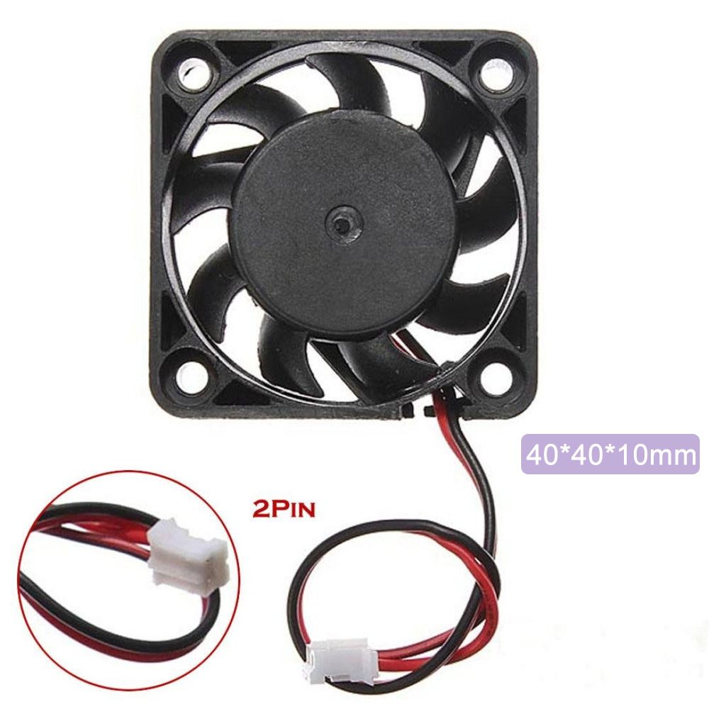 <font><b>4010</b></font> <font><b>Brushless</b></font> DC Cooling Fan 12V 40x40x10mm Speed 3000 RPM Case Fan 2-Pin For Computer Case 3D Printer Humidifier Replacement image