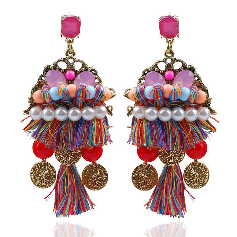 moti untitled product multicolored nareiki plated gold antique earrings