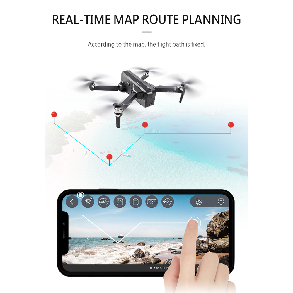 Image 3 - SJRC F11 PRO GPS Drone With 2KHD Wifi FPV Camera/ F11 1080P Brushless Quadcopter 25 minutes Flight Time Foldable Dron Vs SG906-in RC Helicopters from Toys & Hobbies