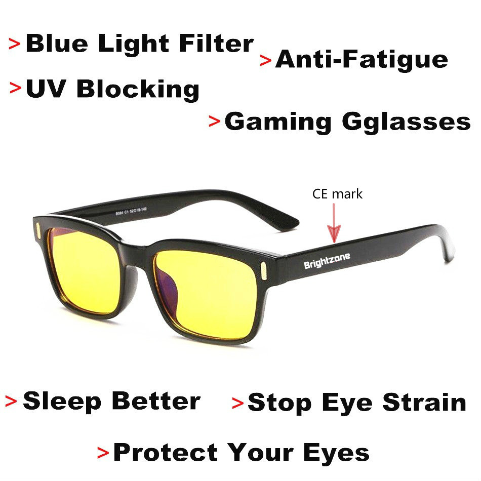 DYVision Protéger Votre Yeux Anti-Fatigue UV Blocage Bleu Lumière Filtre D'arrêter Œil Protection de Souche Jeux Lunettes [Sommeil mieux]