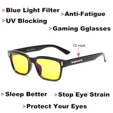 DYVision Protect Your Eyes Anti-Fatigue UV Blocking Blue Light Filter Stop Eye Strain Protection Gaming GlassesSleep Better