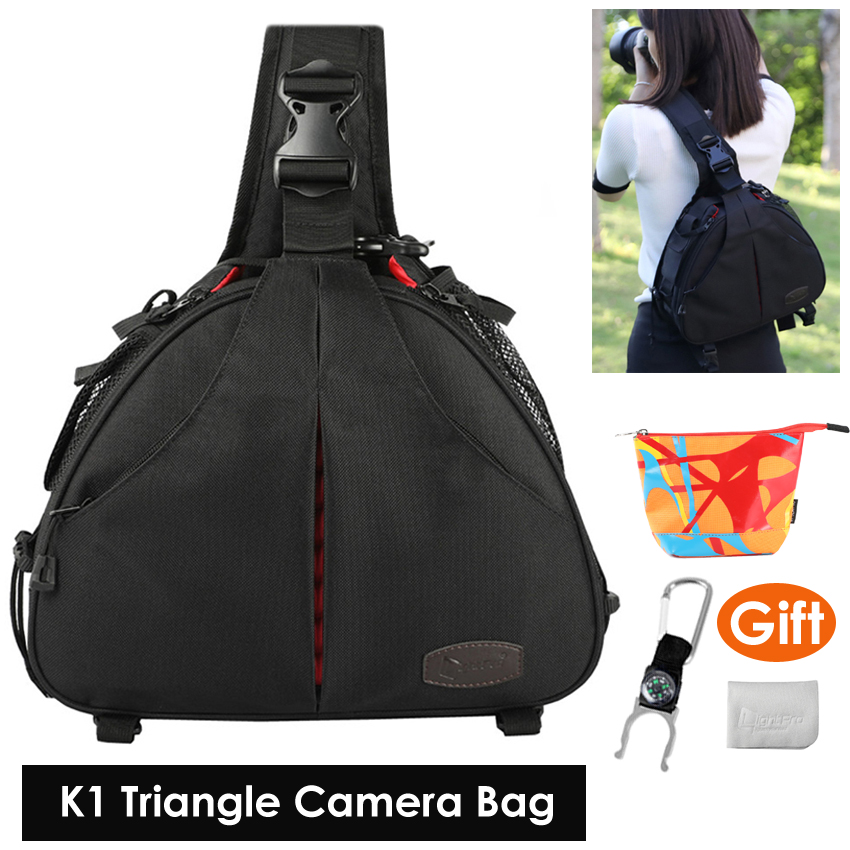 Camera Video Sling Shoulder Cross Body Triangle Package Bag Case Waterproof w/ Rain Cover Men Women Soft Padded for Canon NikonCamera Video Sling Shoulder Cross Body Triangle Package Bag Case Waterproof w/ Rain Cover Men Women Soft Padded for Canon Nikon
