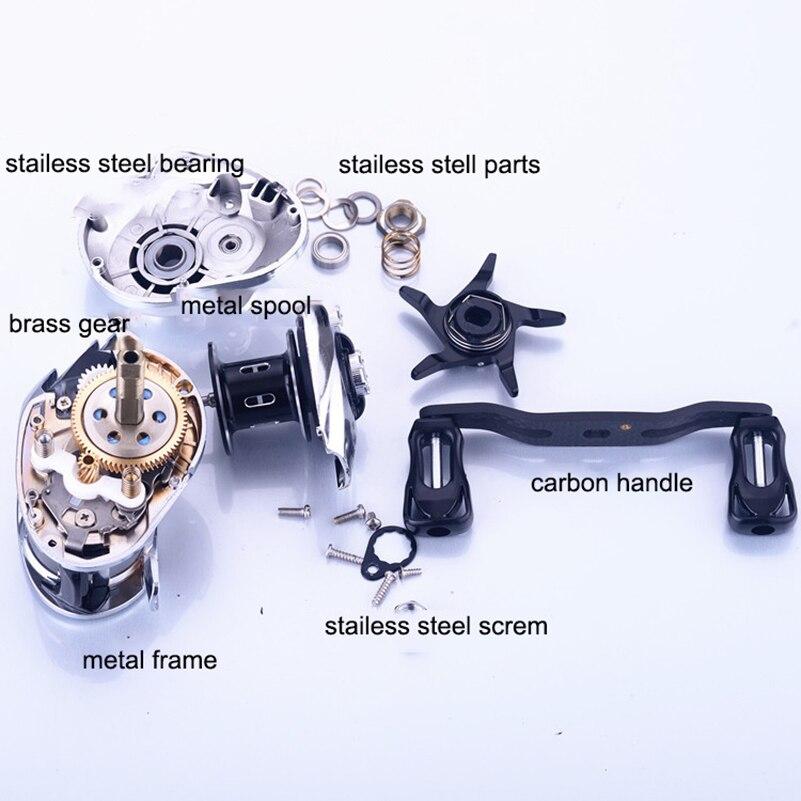 ルアーリール磁気ブレーキ餌鋳造リール 7.2 釣りリール 1