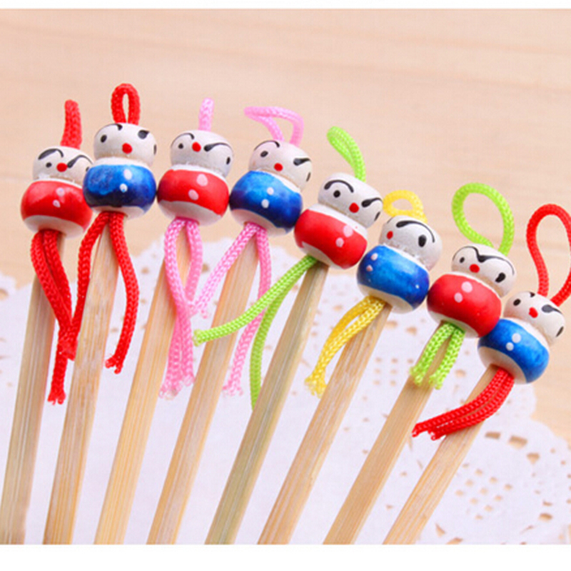 5pcs Handmade Bamboo Oriental Doll Clean Ear Pick Wax Remover Cleaner Ear Care Tool