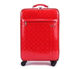 Новое поступление! 24 дюймов, красный/синий искусственная кожа Путешествие багаж для девочки, большая емкость Свадебная шкатулка для невесты, fgf-0003-24