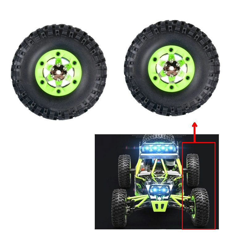 (2 pieces/pack) WL FY-03 1/12 RC Car Spare Parts 12423 12428-0070 0071 Left Right Wheel Tires