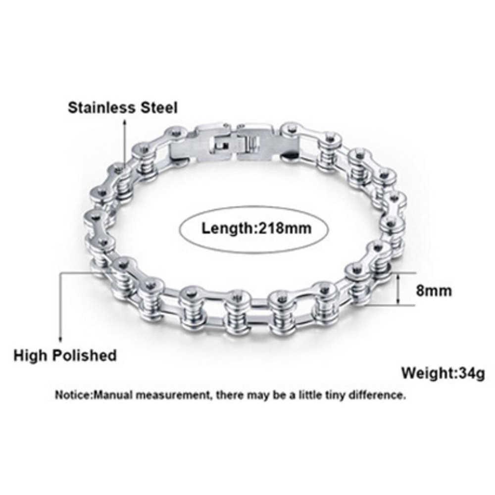 Najwyższej jakości bransoletka ze stali nierdzewnej w stylu motocyklowym męska łańcuch motocyklowy Punk Rock mężczyzna bransoletka Biker rowerowe bransoletki dla mężczyzn