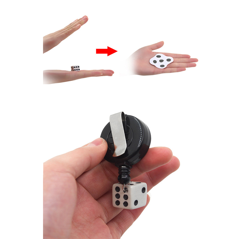 Funny Magic Tricks Hitting Flat Dice Close-up Magic Props Easy To Do for Beginner Magicians Magic Props Toys Party Toys Gift