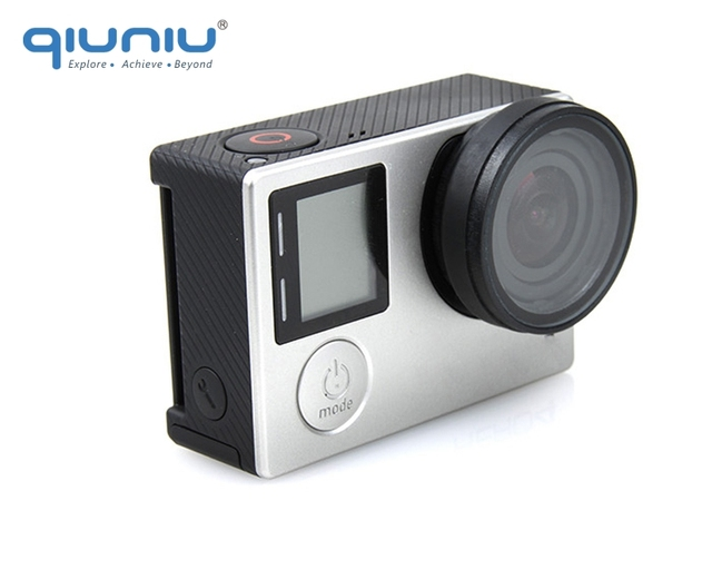 QIUNIU For GoPro Accessories UV Filter Lens Protector Optical Glass UV Lens Protective Cover for GoPro Hero 4 3+ 3 Camera