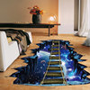 NEW Large 3d Cosmic Space Wall Sticker Galaxy Star Bridge Home Decoration for Kids Room Floor Living Room Wall Decals Home Decor