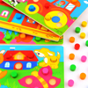 Montessori Educational Toys Color Cognition Board For Children Wooden Toy Jigsaw Early Learning Color Match Game Brinquedos flash sale